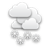mostly cloudy with chances of some snow in the afternoon/evening