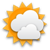 partly cloudy with chances of some isolated and brief downpour
