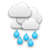mostly cloudy with rainshower and snow above 1200-1300m
