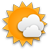 partly cloudy with low cloudiness