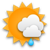 partly cloudy with chances of some scattered rainshower
