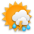 cloudy in the morning, mostly cloudy with scattered rainshowers and thunderstorms in the afternoon-evening